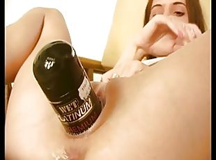 Lesbians toying and squirting