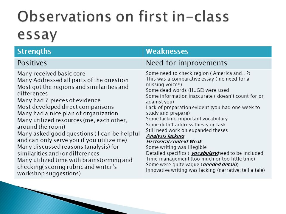 Write my observation essay