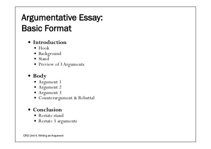 five page argumentative essay example job essey classic model for an argument below is a basic outline for an argumentative or persuasive essay this is only one possible outline or organization