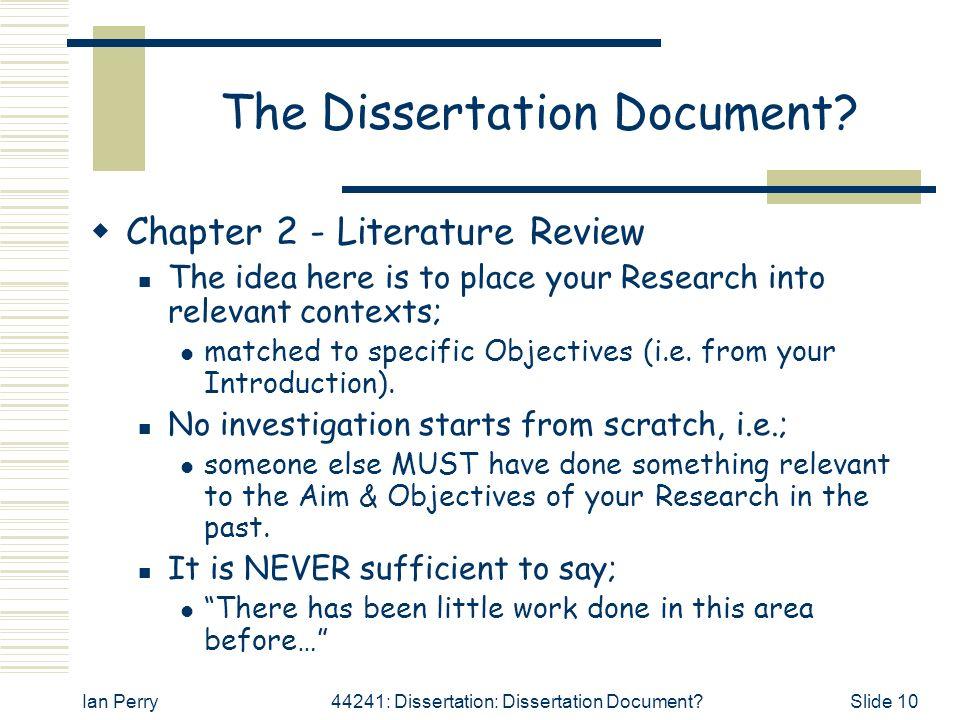 Dissertation Proposal - Advice - Postgradcom