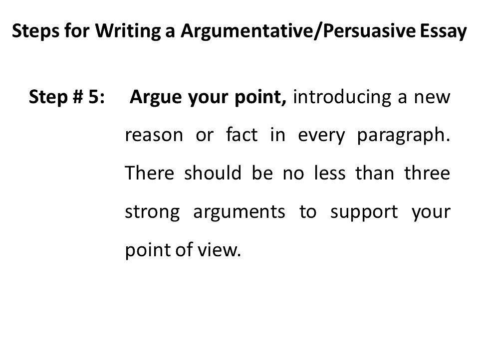 Step by step guide to writing a persuasive essay
