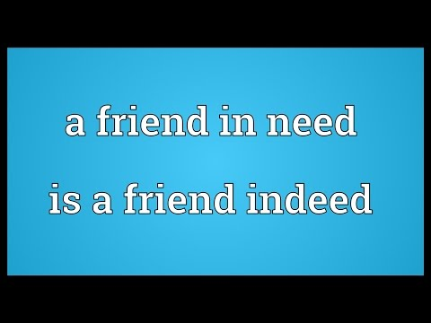 Friend is need friend indeed essay