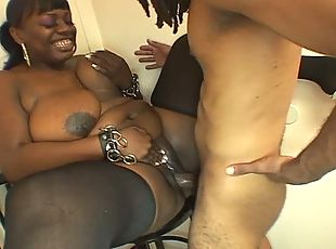 Ebony bbw sucks white