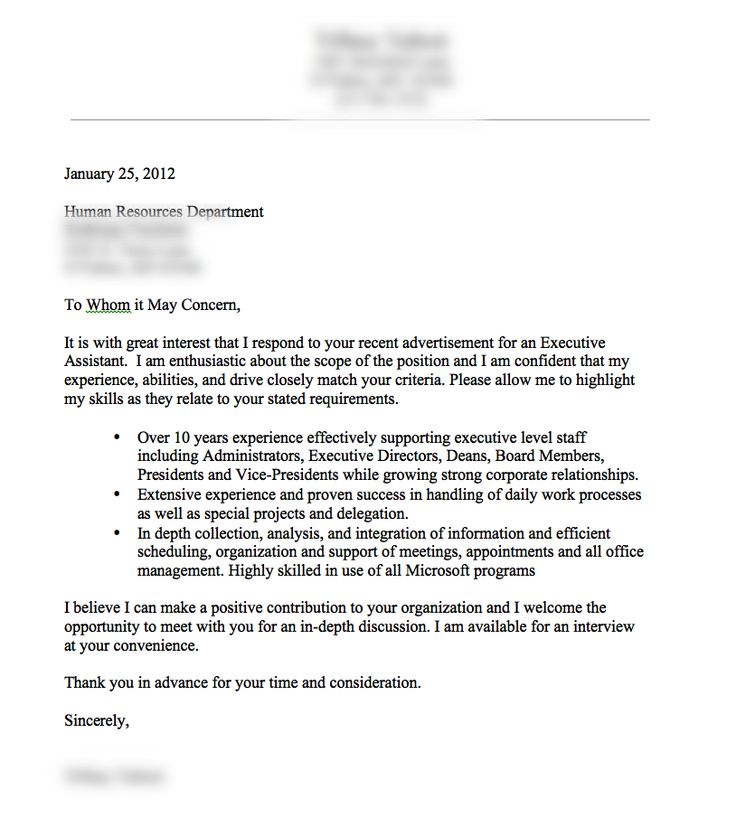 Cover Letters - Internship and Career Center