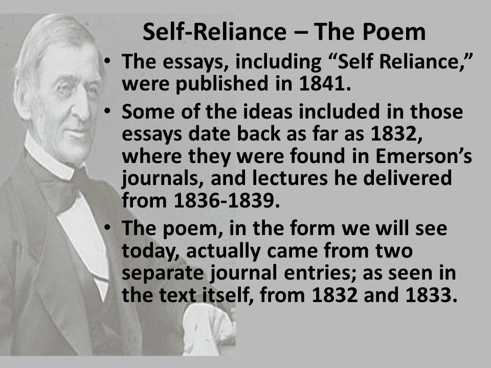 Write my self reliance essay summary