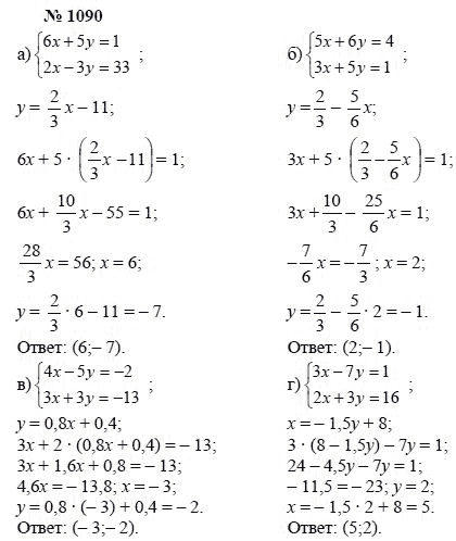 Гдз по математике за 7 класс мордкович мишустина тульчинская