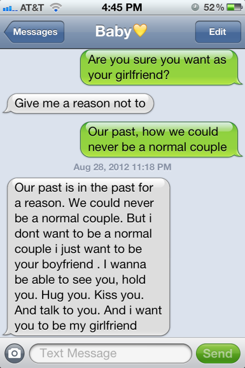 Relationship advice text messages