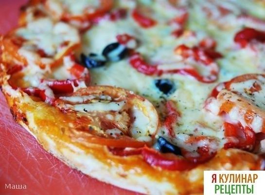 Рецепт быстрой пиццы из кефира