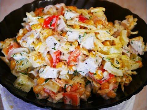 Рецепты салатов дешевые и быстрые