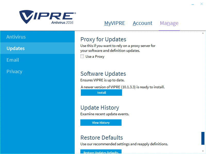 How to manually update VIPRE Home Threat Definitions