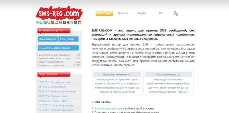 Виртуальные номера для приема смс для украины