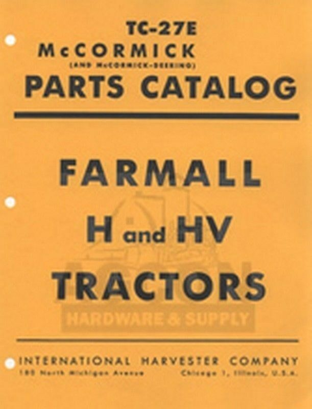 Free Download of IH and other tractor manuals- Farmall