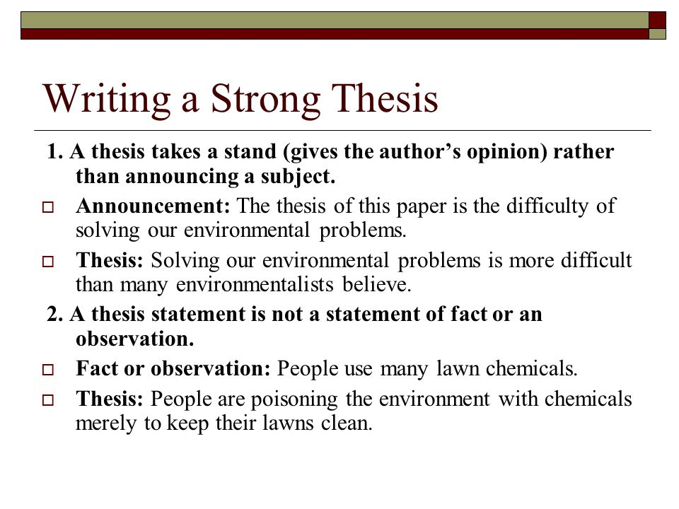 Essay thesis statements