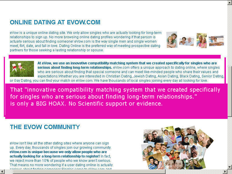 Evow dating site reviews