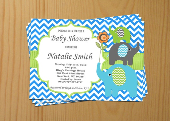Editable PDF Baby Shower Invitation DIY – Elegant