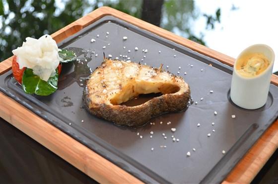 Ресторан Биргарден - фотография 12 - Стейк из Черной трески в новом гриль-меню