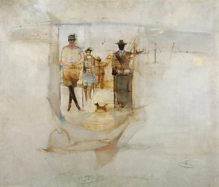 В кабине аэроплана.1928.
