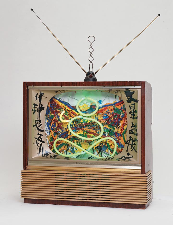 Нам Джун Пайк. Чудеса Будда Бог дьявол, 1990