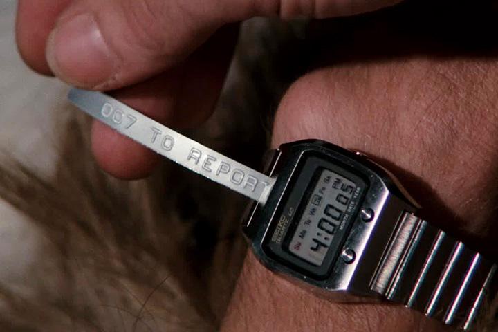 Часы Seikо с функцией телетайп из фильма «Шпион, который меня любил»