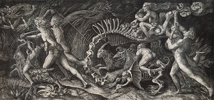 Скелет. Агостино Венециано, 1520