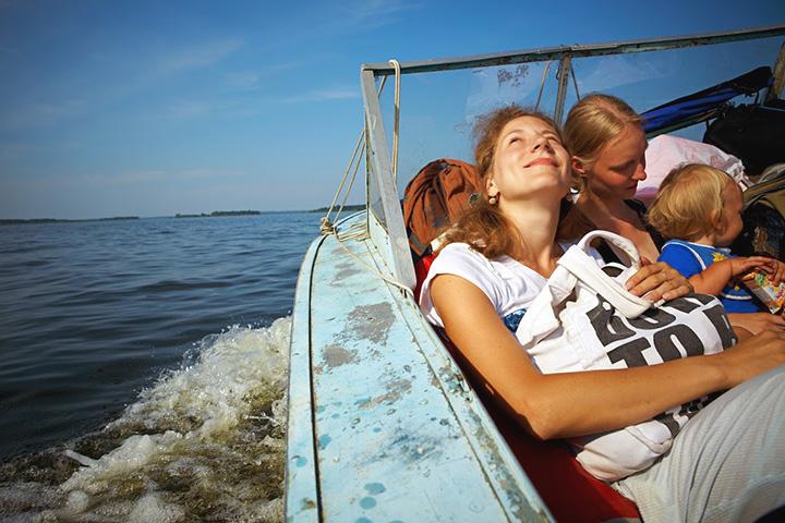 Фотография на пути к кемпингу на Рыбинском водохранилище, 2010 г.