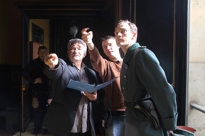 Фото со съемок фильма Сокурова «Франкофония»