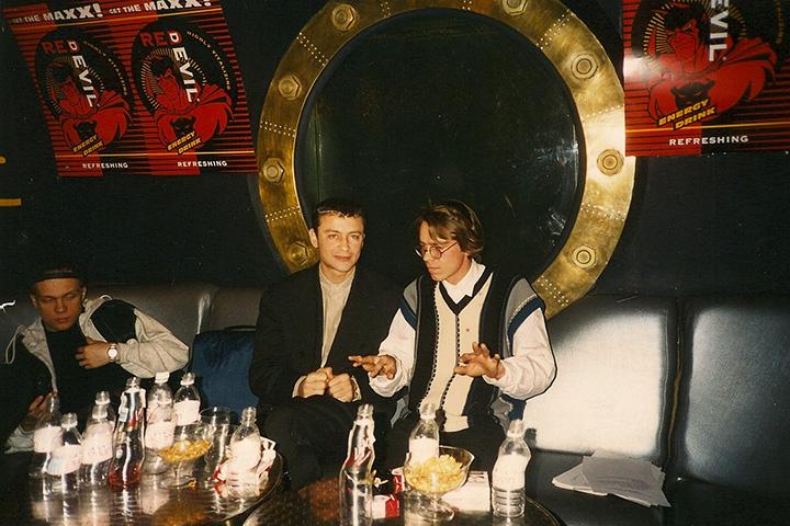DJ Грув, Олег Цодиков, Сергей «Африка» Бугаев на проекте «Вокруг света», конец 1995 года