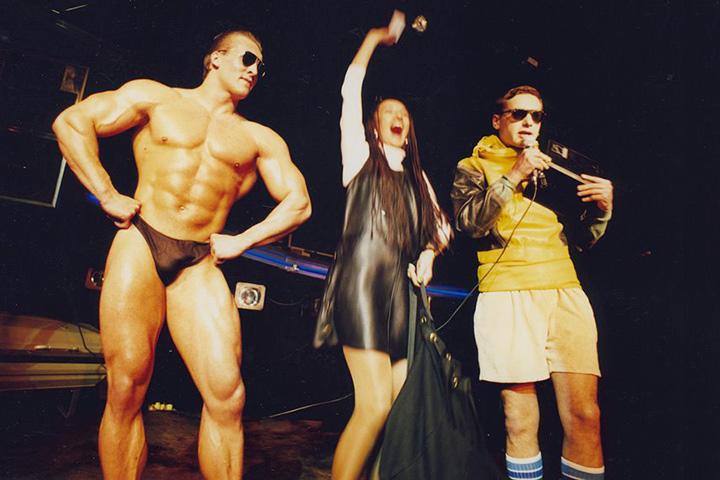 Дмитрий Федоров на вечеринке по случаю дня рождения клуба, 1996 год