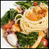 """Ресторан Де Марко - фотография 34 - Лингвини с осьминогом и лисичками в соусе """"Шабли"""", молодым шпинатом и помидорами черри."""
