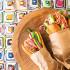 Ресторан Чайхона №1 - фотография 1 - Ливанские близнецы. Наш вариант хот-дога - аппетитная котлета из курицы или баранины, хрустящими огурцами и редисом , соусами в теплой булочке
