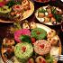 Ресторан Айдабаран - фотография 4 - Ассорти из пхали, лобио и рулетики из баклажанов с начинкой из сыра и грецкого ореха