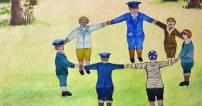 Польша в рисунках детей Варшавы 1930-х годов