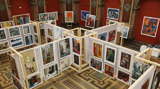 Выставка студенческой живописи за 40 лет
