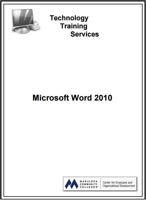 Manuel utilisation microsoft word 2010