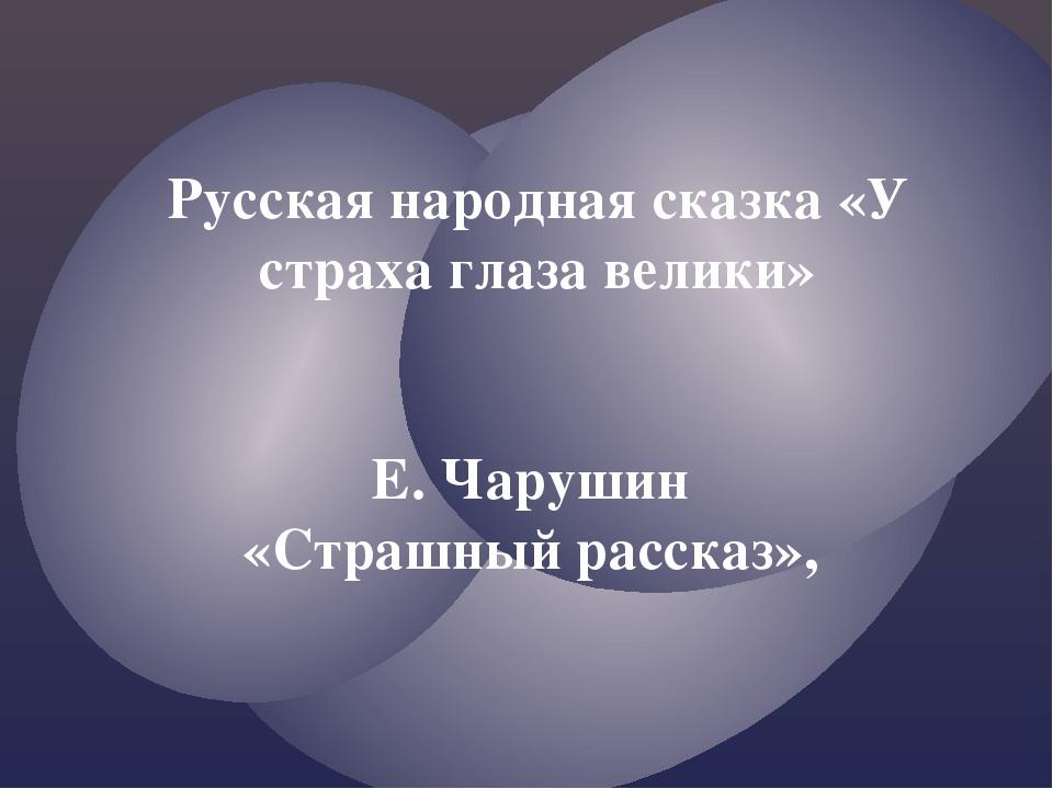 Презентация по литературному чтению Русская