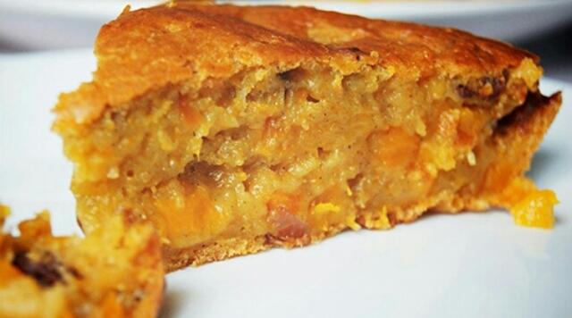 Рецепт быстрого пирога с тыквой