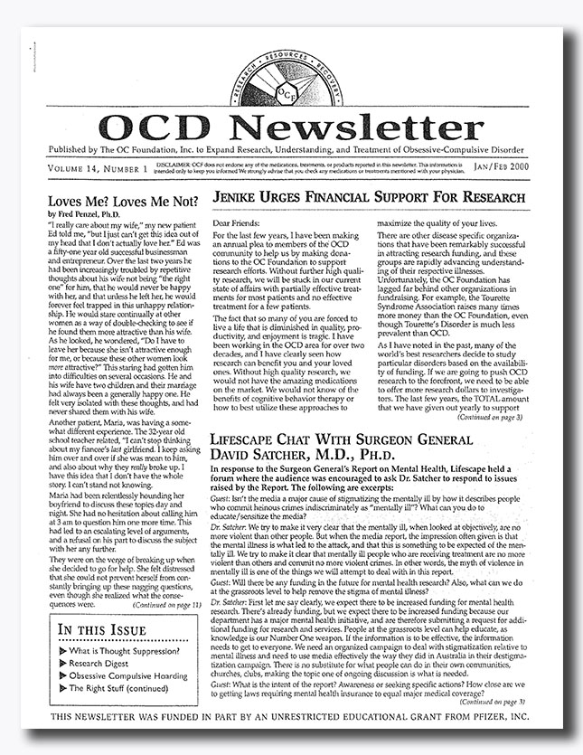 Ocd research paper