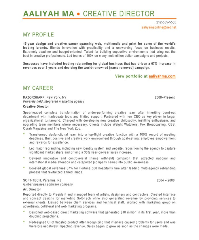 resume format for art director haut plantade