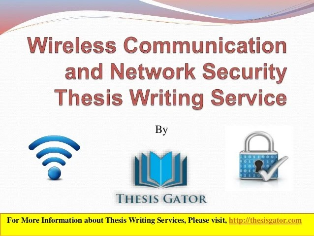 Write my network thesis