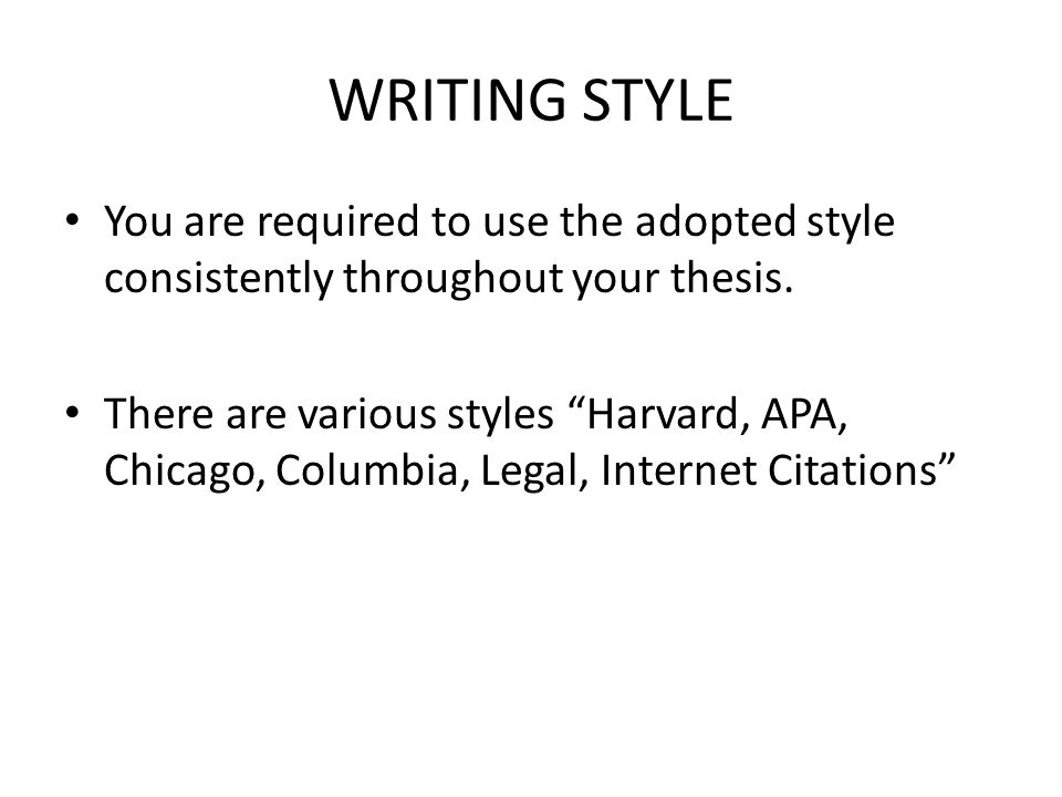 Guide to thesis