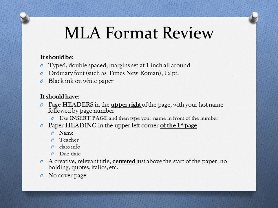 Format for article essay