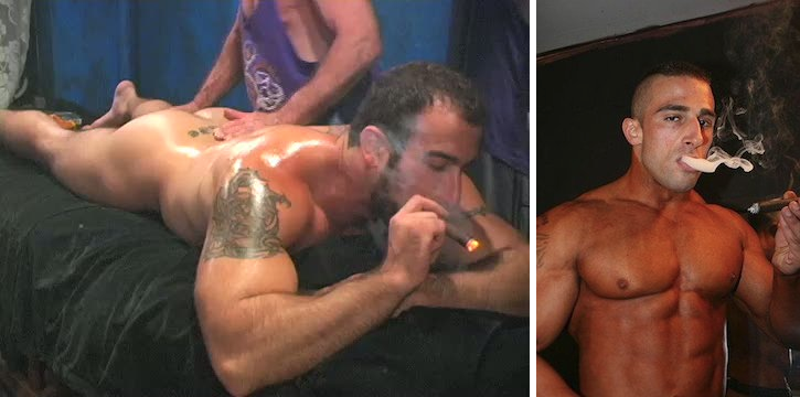 Gay cigar smoking porn