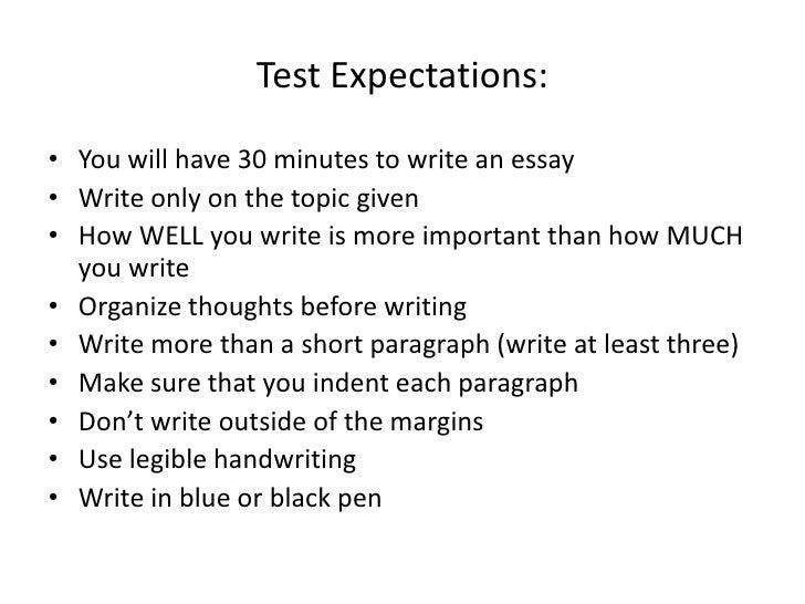 Exemplary essay topics
