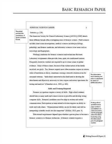 Apa format of essay