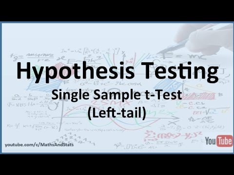Hypothesis Testing - Hypothesis Test in Excel - Test