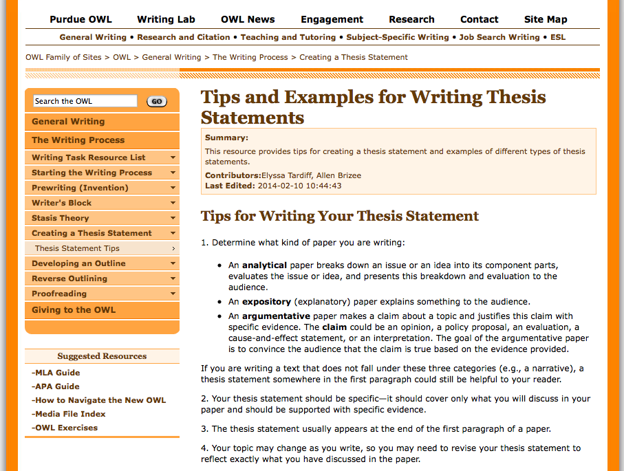 apa literature review purdue owl A guide with information on how to write a literature review database of master's theses written by csu, chico students, from 2009 on.