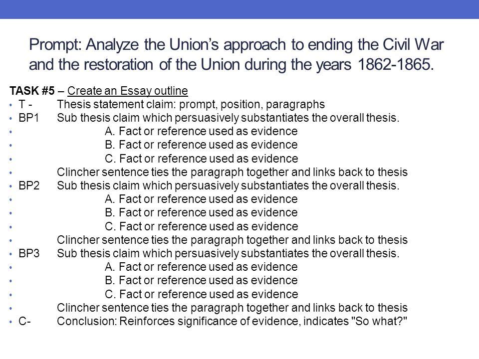 Civil War Essay - Essay Topics