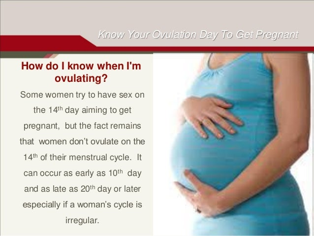 Chances of getting pregnant when ovulating