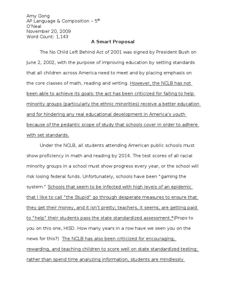 essays on standardized tests
