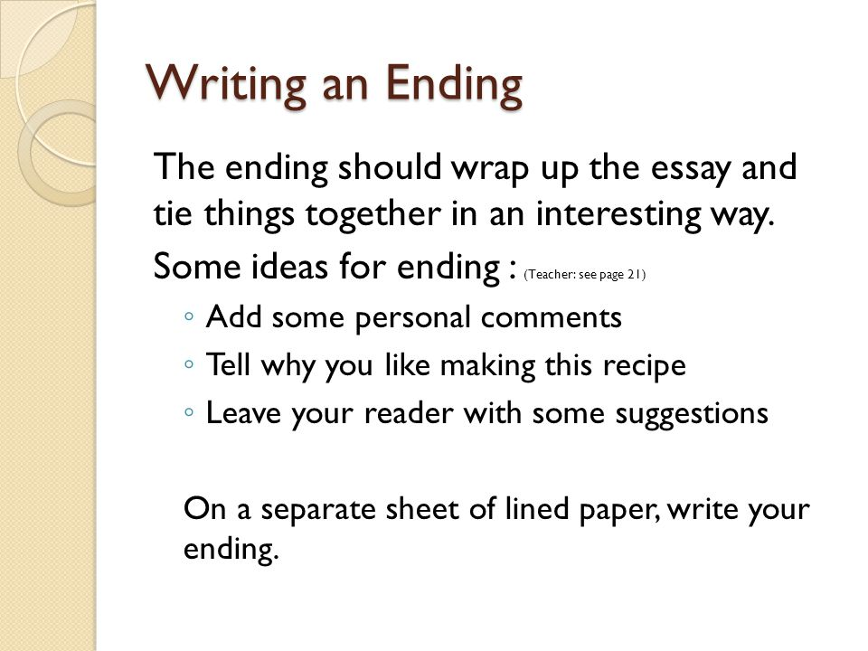 Write my how to write an ending paragraph in an essay